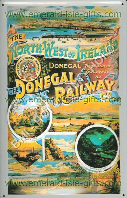 Donegal Railway - old Tourist Poster