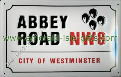 Abbey Road - The Beatles - Metal Sign