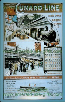 Cunard Line New York to Boston advert