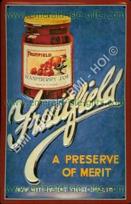 Fruitfield Jam - old Irish advert (Metal Sign)