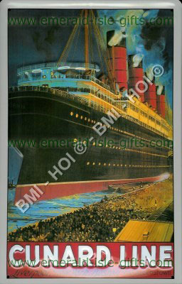 Cunard Line - old poster reproduction
