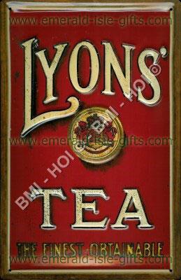 Lyons Quality Tea - Advert on Metal Sign (Nostalgic Ireland)