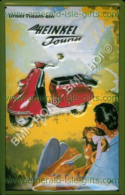 Heinkel Tourist Motor Scooter Metal Sign