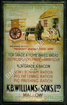 Irish Home Baked Bread old advert on metal sign