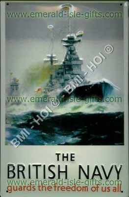 The British Navy - poster reproduced on metal sign