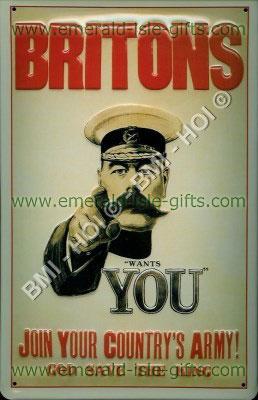 WW1 British Recruitment Poster (Nostalgic metal sign)