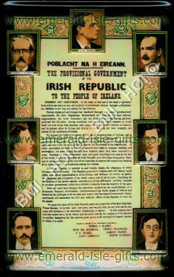 Irish Proclamation on metal sign