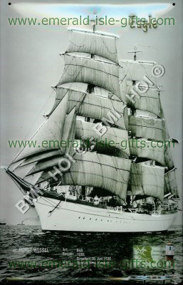 The Eagle Tall Ship on metal sign