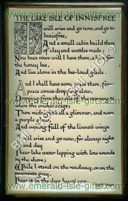 The Lake Isle of Innisfree Irish Poem (on vintage metal sign)