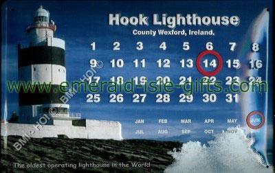 Hook Lighthouse Wexford on metal sign (calendar)