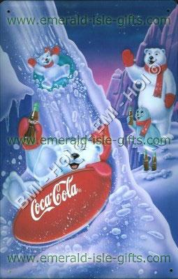 Famous Polar Bears advert Coca Cola (metal Sign)