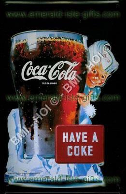Sprite Boy - Have a Coke Metal Sign (old Coca Cola advert)