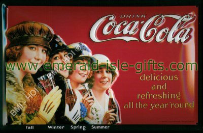 CocaCola - Delicious and refreshing (old advert on metal sign)