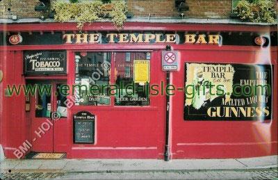 The Temple Bar Pub Metal Sign (classic Irish pub)