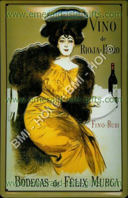 Vinto de Rioja-Haro Metal Sign
