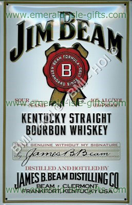 Jim Beam White Label - Metal Sign