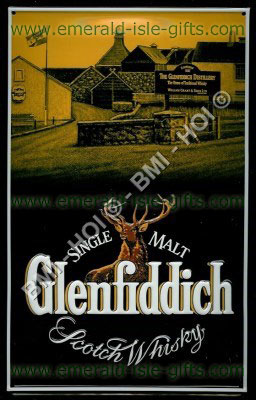 Glenfiddich Scotch Whisky Metal Sign