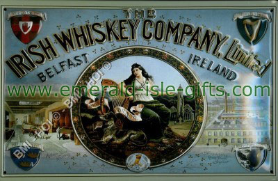 The Irish Whiskey Company old poster advert