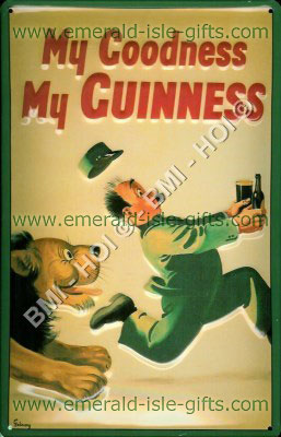 My Goodness My Guinness Zookeeper Metal Sign