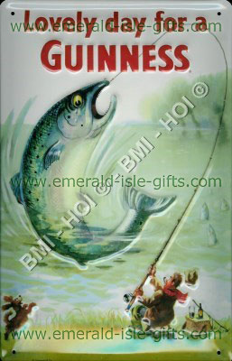 Guinness collectable metal signs guinness big fish for Big fish classic