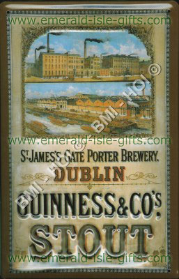 Guinness St.James Gate Brewery old advert