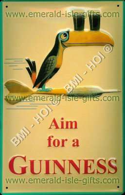 Toucan - Aim for a Guinness - Metal Sign