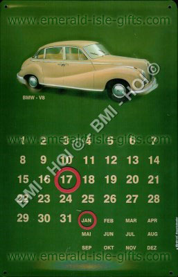 BMW Car Calendar old advert