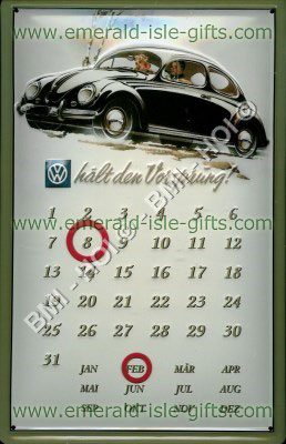 VW Beetle Calendar old advert