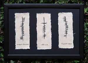 Friendshp, Love & Loyalty - Ogham - Claddagh Theme (Framed plaque)