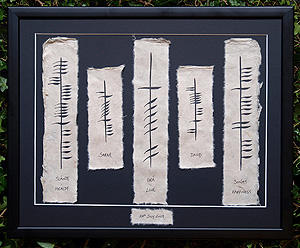 Ogham Irish Personalised Large Wedding Plaque (The ancient language of Ireland)