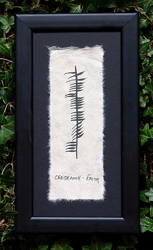 Faith - Creideamh - Ogham plaque (Great spiritual gift)