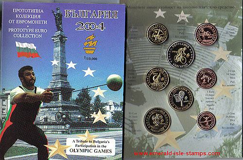 Bulgaria Euro Pattern Set (Year of Issue - 2004)