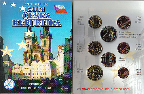 Czech Republic Euro Pattern Set (Year of Issue - 2004)