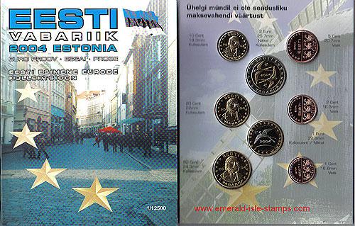 Estonia Euro Pattern Set (Year of Issue - 2004)