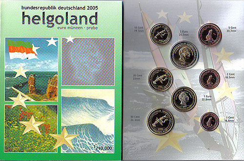 Helgoland Euro Pattern Set (Year of Issue - 2004)