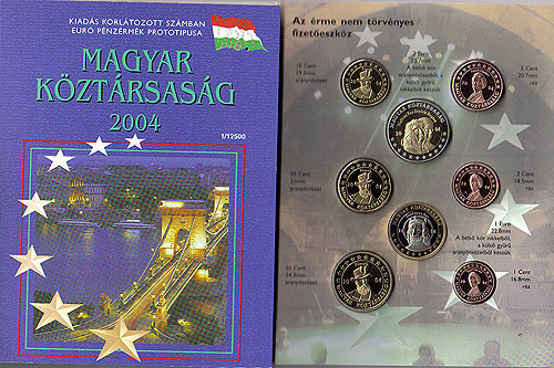 Hungary Magyar Euro Pattern Set (Year of Issue - 2004)