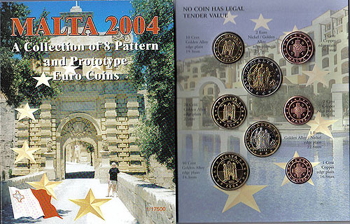 Malta Euro Pattern Set 2004 (Year of Issue - 2004)