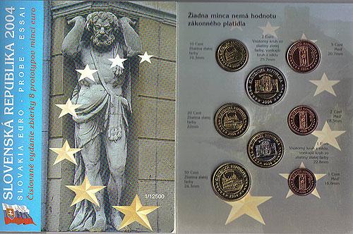 Slovakia Euro Pattern Set (Year of Issue - 2004)