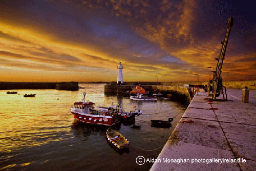 Donaghadee Harbour at Sunset, Co Down