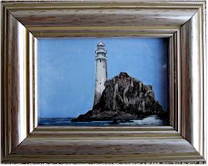 Fastnet Rock Lighthouse, an original miniature (Watercolour by Pervaneh Matthews)