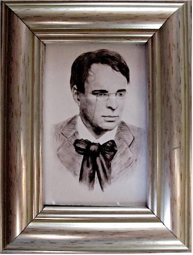 W.B. Yeats - Original Miniature (Watercolour by Pervaneh Matthews)