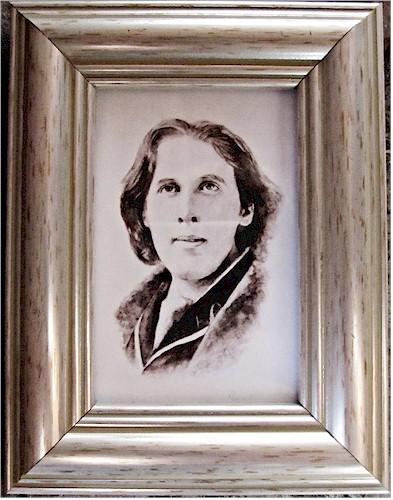 Oscar Wilde Portrait - Miniature Watercolour (Original by Pervaneh Matthews)