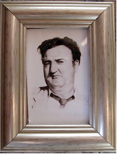 Brendan Behan - Miniature Watercolour