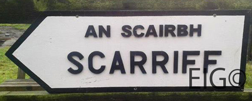County CLARE Full Size Town ROAD SIGN (Replica Road Sign for your home town)