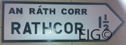 County LOUTH Full Size Town ROAD SIGN