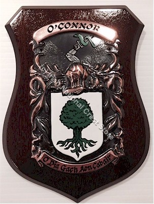 BUCK to BURY Handpainted Family Crest Shield (Any Crest & Motto)