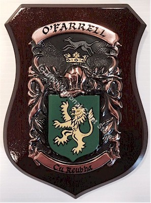 TURNER to WHITE Handpainted Family Crest Shield