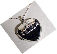 Sterling Silver Heart Claddagh Inset Locket
