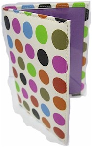 Funky Dot Matrix Leather Passport Holder