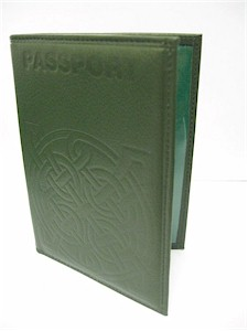 Irish Celtic Passport Wallet Holder